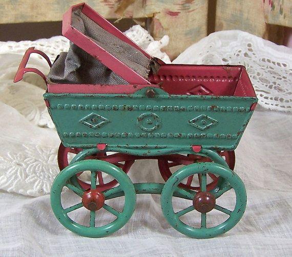 SUPER SALE  Antique German Penny Toys  Tin by VintageVancouver