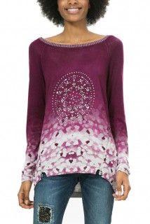 Desigual fialový svetr Manuela