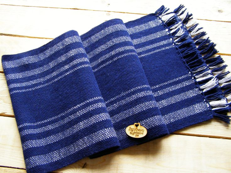 dark blue Wool Scarf For Men. Men's Scarf. Winter Mens Scarf.  For Him, Men's Accessories, Perfect Gift, READY TO SHIP by BUPO on Etsy