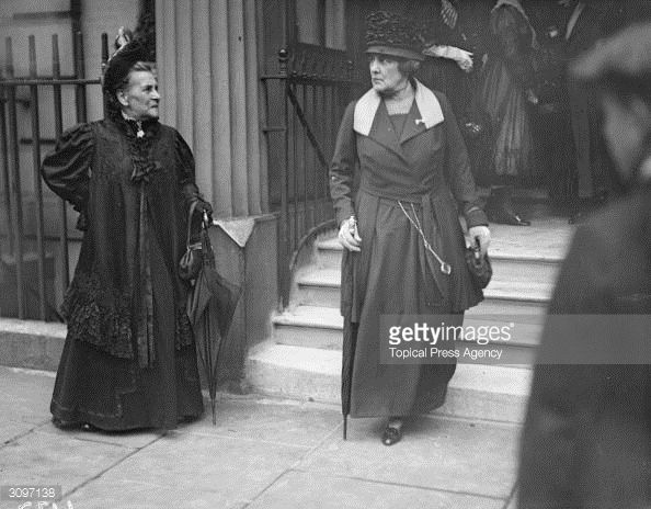 American Gilded Age heiress and socialite Jennie Jerome, (1854-1921), in her later years, c.1917. Pictured here, as Lady Randolf Churchill, the American mother of Winston Churchill. ~ {cwl} ~ (Getty Images)