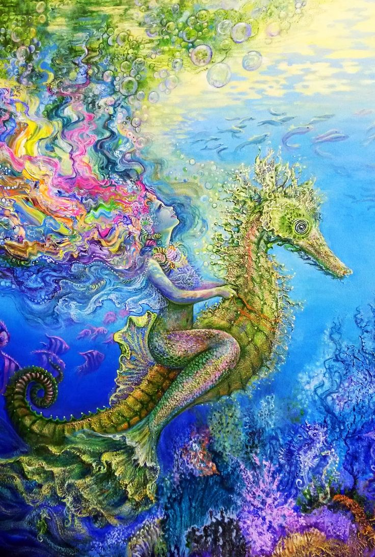 Sirena En Caballito De Mar
