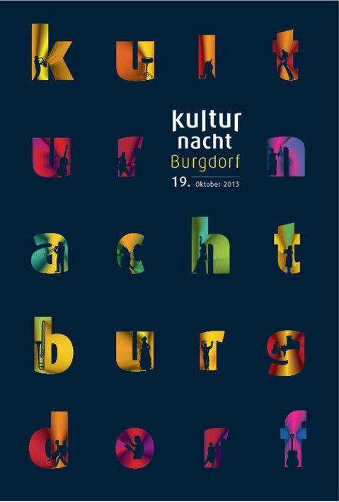 Plakat Kulturnacht Burgdorf 2013