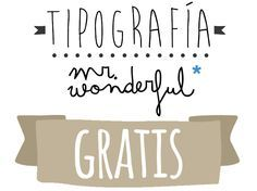 tipografia mr wonderful gratis                                                                                                                                                                                 Más