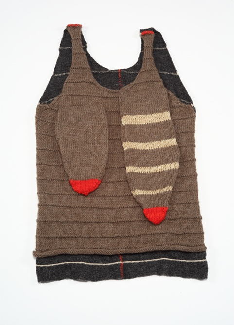 """""""mary"""" - hand and machine knit - 2.5'x 1'"""