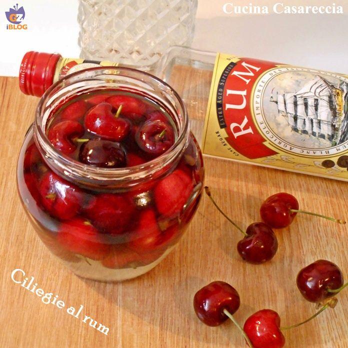 Ciliegie al rum un'ottima soluzione per conservare le ciliegie anche fuori stagione e utilizzare lo sciroppo rum e ciliegia per la bagna delle nostre torte