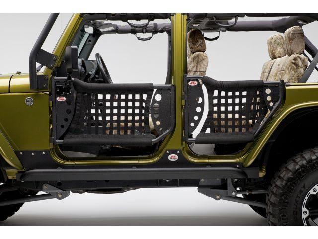 Body Armor Rear Trail Doors For 07-14 Jeep® Wrangler Unlimited JK 4 Door Quadratec Part No: 11149.1001 Manufacturer Part No: JK-6136 $289