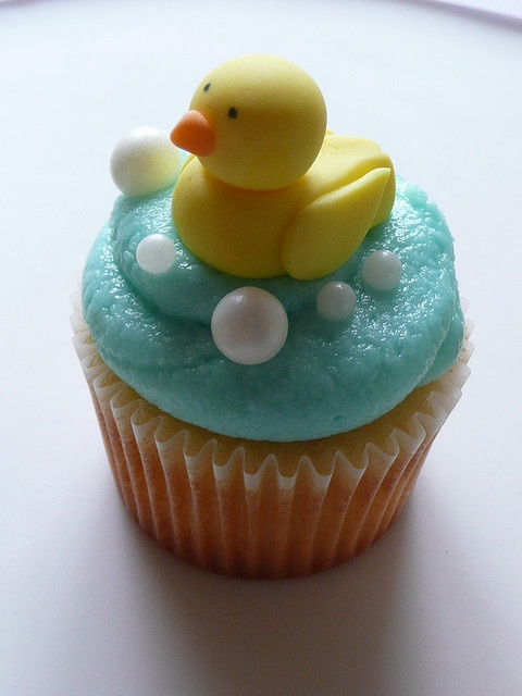 duck cupcakes, or also for easter without the bubbles
