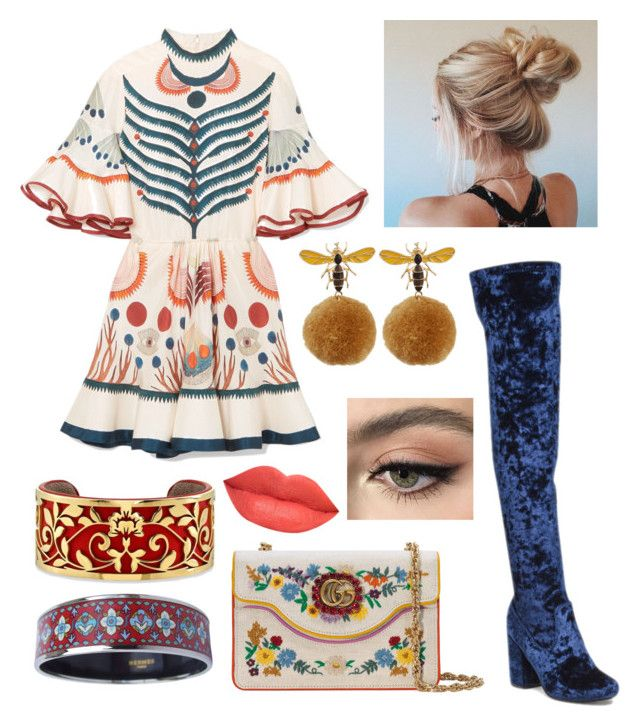 """""""Russian Inspired Outfit"""" by miwemporium92 on Polyvore featuring Chloé, Gucci, Belk Silverworks, Hermès, Ofra and Stila"""