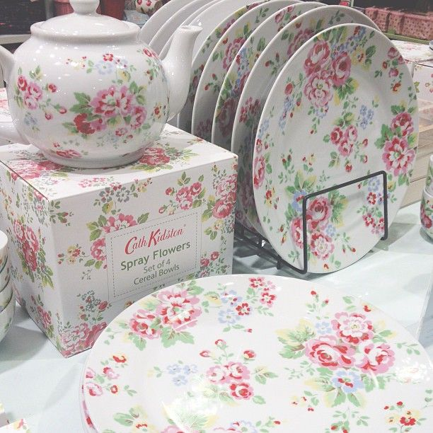 Cath Kidston Dinnerware! Got a few of the salad/dessert plates in this pattern.