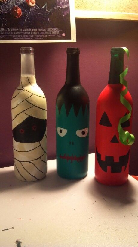 How To Decorate Wine Bottles For Halloween 2879 Best Halloween Images On Pinterest  Halloween Rocks Paint