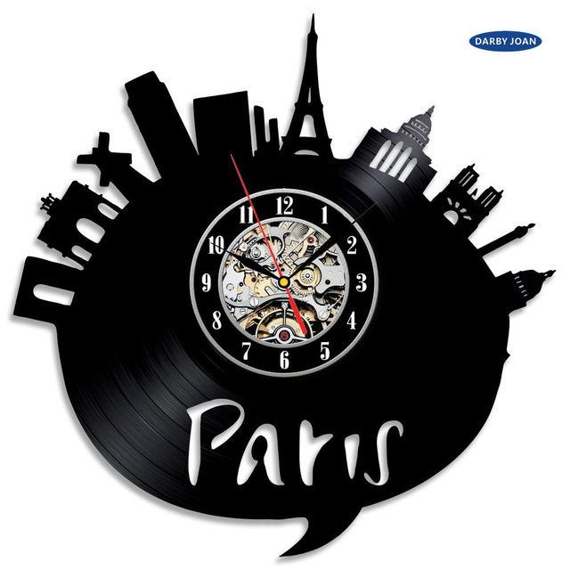 Special offer France Paris City Theme Vinyl Wall Clock Bedroom Decoration la crosse dial vision just only $26.65 with free shipping worldwide  #clocks Plese click on picture to see our special price for you