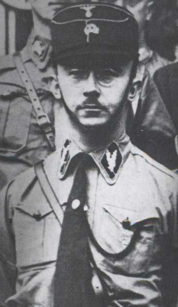 Himmler as a member of the SA, in early SS-uniform holding the rank of Oberfuhrer or Senior Leader, and was at that time, a para-military rank in the Nazi party, the SS was a branch of the SA.circa 1927-1933