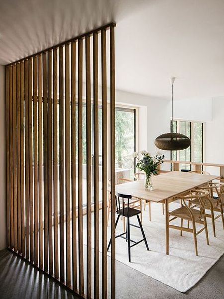 Super simple to make and with all materials readily available at your local Builders or hardware store, a simple wood partition is an easy way to create zones within an open plan living area.