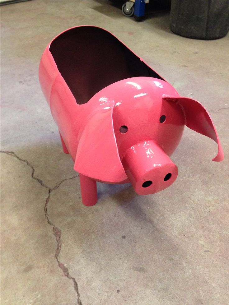 Propane Tank Planter Piggy-Dog Yard Forge and Metalworks