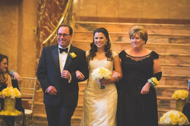 Elegant Modern Jewish Wedding At Severance Hall Bridal Processional