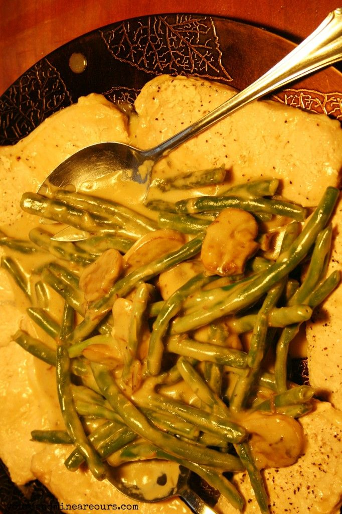One Pot Pork And Green Beans With Mushroom Gravy Recipe - Yours and Mine ARE Ours