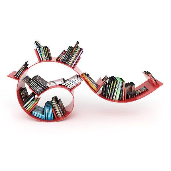 Happy #2016 to all! If your #newyearresolution is to #collect #beautiful #objects or #read more #books, then consider a #bookworm shelf to #display your #collection. #Designed in #1994 by #Israeli #designer #RonArad, the #shelf has been cleverly constructed out of the #transparent #PVC that has become manufacturer - @kartell_official's trademark.  Get the bookworm on your wall and let your #intellectual tastes meander around the space for all to see.