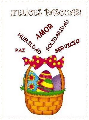 TODOPREESCOLAR - Trajetas de Pascuas - Diseños y moldes