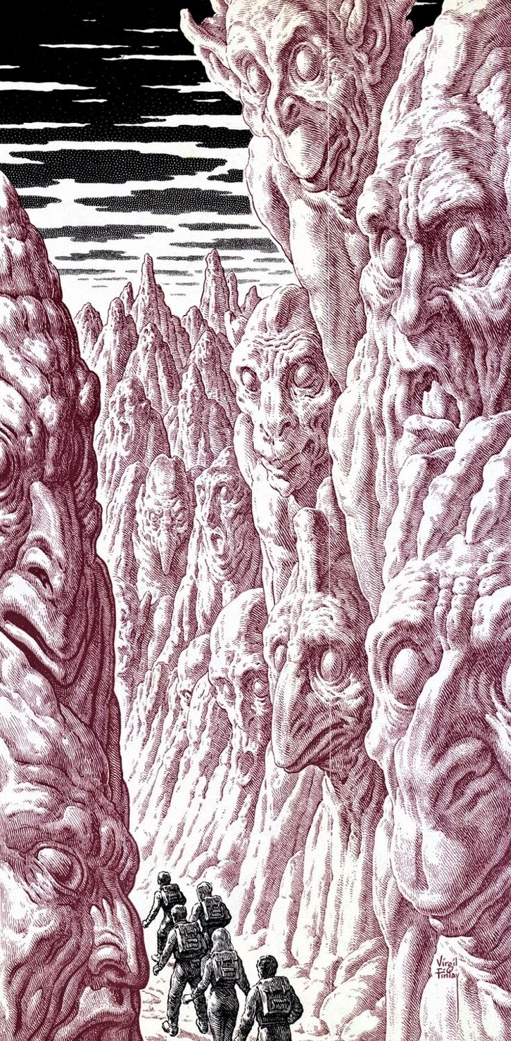 Virgil Finlay, 1967. / The Science Fiction Gallery