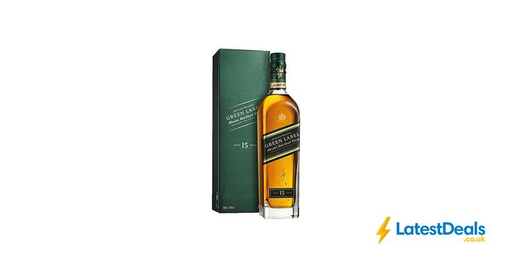 Johnnie Walker Green Label 15 Year Old Blended Scotch Whisky 70 cl Free Delivery, £30 at Amazon UK