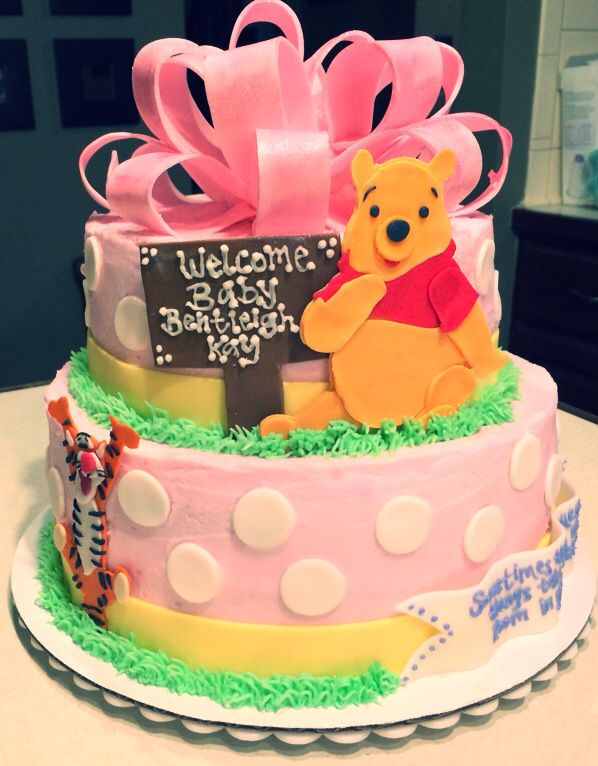 winnie the pooh baby shower cake food pinterest