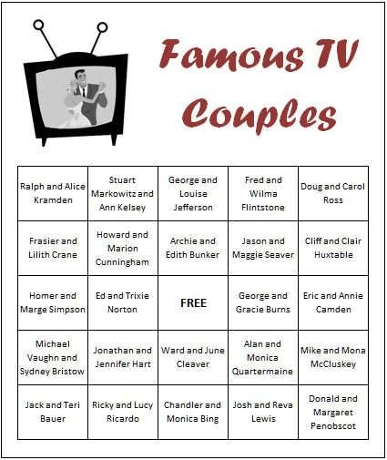 Our Famous TV Couples Game Is A Great Co Ed Wedding Shower Games So If Your Favorite Couple Plans To Be Both Present On Her Bridal Then This