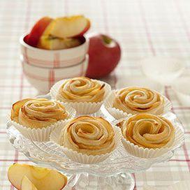 Le+roselline+di+mele+con+pasta+sfoglia,+sono+una+vera+e+propria+golosità.+Sono+facili+e+veloci+da+preparare+e+gli+ingredienti+necessari+sono+pochi