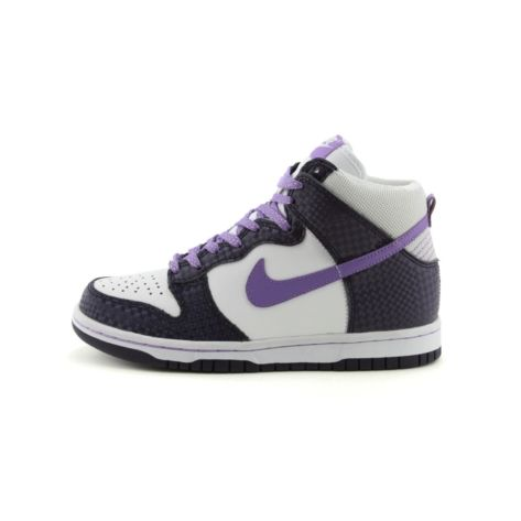 Shop for Tween Nike Dunk Hi Athletic Shoe in White Purple at Journeys Kidz. Shop today for the hottest brands in mens shoes and womens shoes at JourneysKidz.com.This classic high-top shoe from Nike features a durable leather upper, lace closure, and a solid rubber outsole for traction.