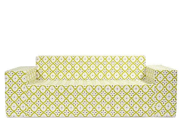 Outdoor Sofa  Moroccan Chartreuse OneKingsLane.com