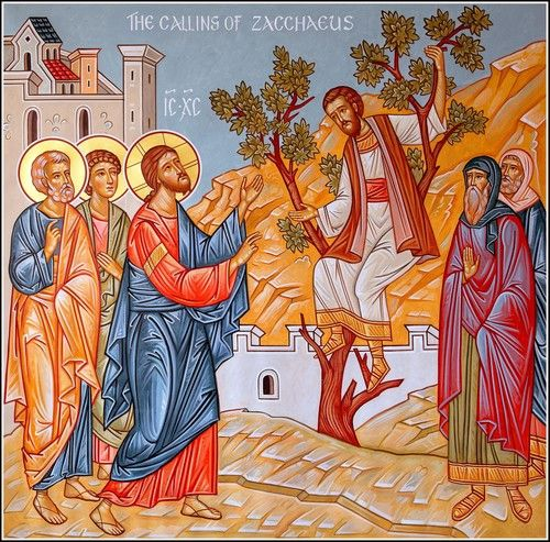 Here is my sermon this morning on our Lord IX visiting Zaccheus based on St.Luke's gospel chapter 19,1-10: