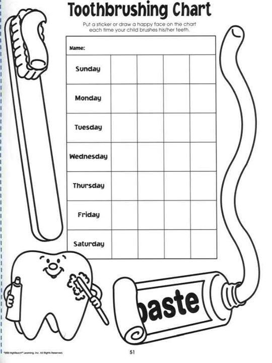 Toothbrush chart for kids.. save image and print out in ...