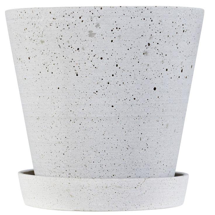 Flower Pot krukke XL, grå i gruppen Rum / Køkken / Indretningsdetaljer køkken hos ROOM21.dk (124398)