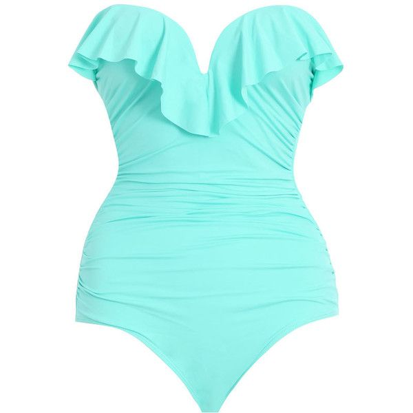 Zimmermann Separates Frill Bandeau 1 Pc (1.960 ARS) ❤ liked on Polyvore featuring swimwear, one-piece swimsuits, bikinit, swimsuit, swimsuit swimwear, ruffle bathing suit, swim wear, one piece swimsuits и swim suits