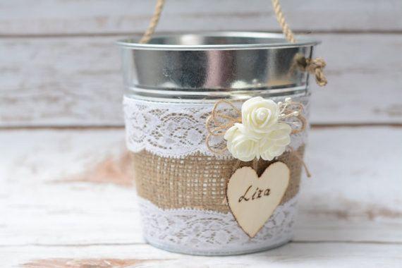 Blumenmädchen Korb Streukörbchen Hochzeit Körbchen von HappyWeddingArt auf DaWanda.com