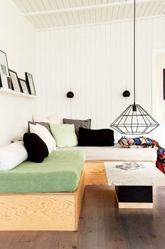Gravity Interior : Living room in summerhouse via Bolig Magasinet