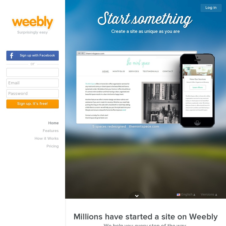 how to use weebly website