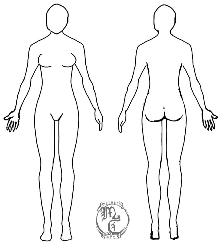 Human Body Template - Female by MyraethCorax Drawings in 2019