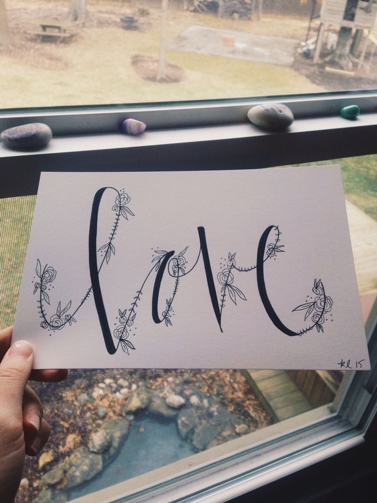 Love hand lettering