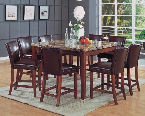 Granite dining table With 8 Chairs ~ http://makerland.org/choosing-granite-dining-table-for-your-dining-room/