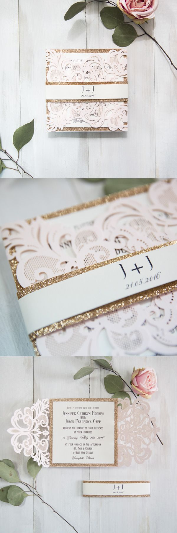 not on the high street winter wedding invitations%0A   Super Elegant Pink Wedding Invitations from EWI      New Arrivals