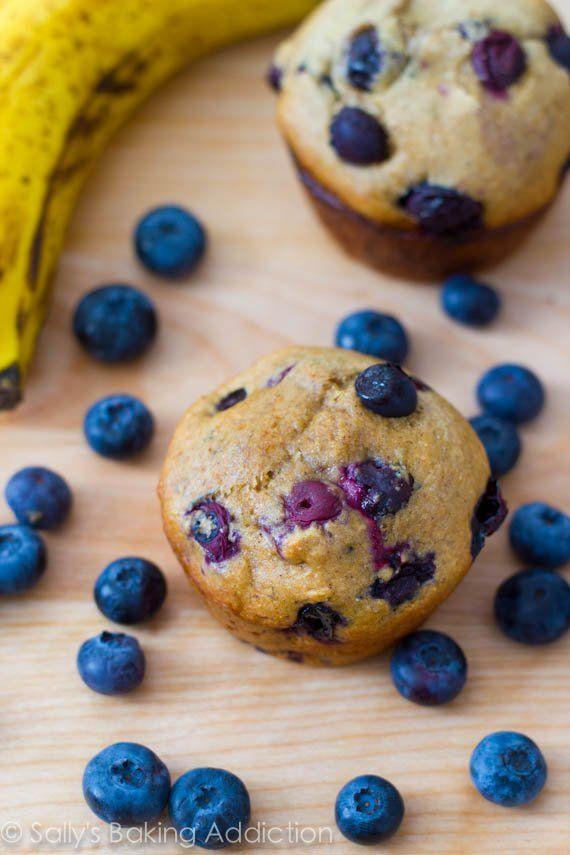 skinny banaan bosbes muffin