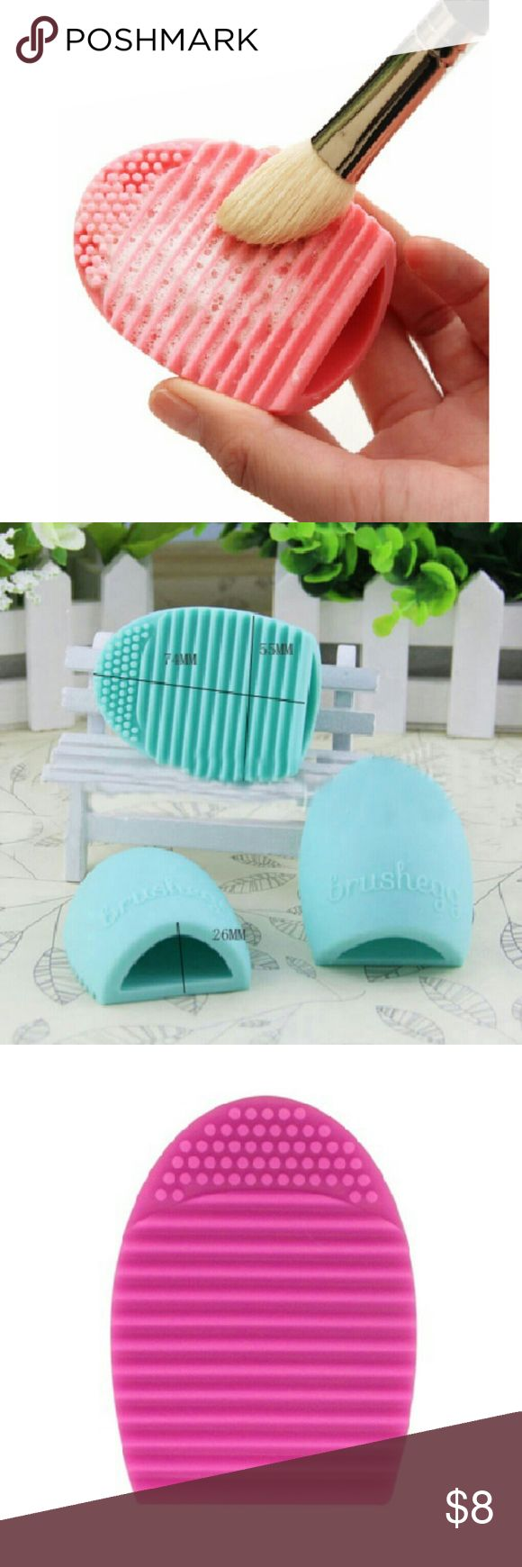 MakeUp Washing Scrubber Brush egg Cleaning Cleaner This?is?the?makeup?brush?cleaner,?will?help?thoroughly?clean?through?all?the?bristles?and?make?cleaning?your?brushes.  Very?useful?tool?to?cleaning?various?of?your?makeup?brushes Compact?in?size?and?very?cute,will?fit?easily?in?your?makeup?case. Grand?new,made?of?high?quality?silicone,will?not?damage?your?brushes?Smaller?knobs?on?the?top?used?for?foaming?and?lathering The?grooves?in?the?bottom?of?the?egg are used?to agitate the bristles…