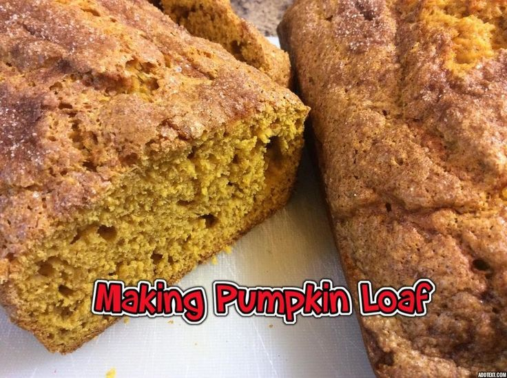 Making Pumpkin Loaf