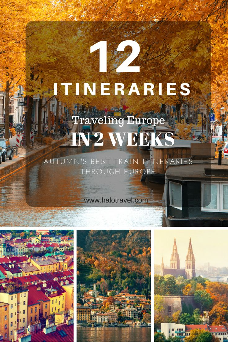 12 amazing Europe itineraries. Are you planning a 2 week holiday to Europe? We created the best Europe itineraries for you. All these itineraries can be done in 2 weeks by train.