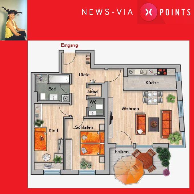 X-Points Chemnitz - Eine Eigentumswohnung mit Pfiff