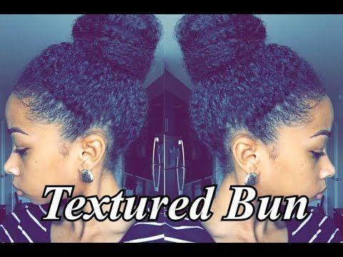 Textured Bun Tutorial | Short 4a/3c Hair| How to Blend w/Marley Hair