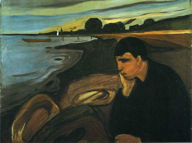 Edvard Munch (1863-1944) - 1894, Melancholy. 81 x 101, Oslo Nasjionalgalleriet