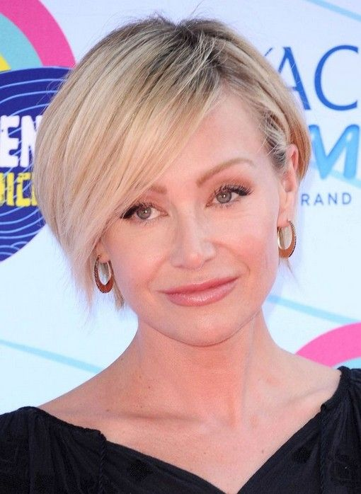2014 Portia de Rossi's Short Hairstyles: Short Hair with Side Bangs