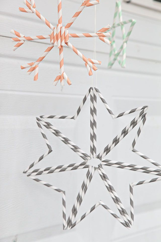 Unify Handmade: How to Make Paper Straw Snowflake Ornaments