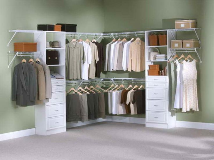 Rubbermaid Closets Ideas With Green Wall